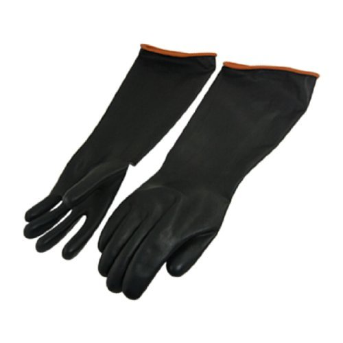 """Water & Wood Pair Chemical Resistance Industry Elbow Long Rubber Gloves 18"""" Length"""