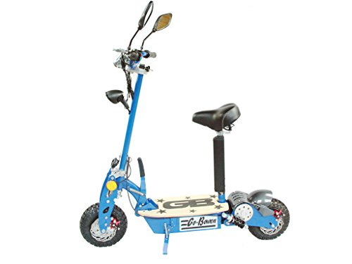 800W Electric Folding Scooter - Blue