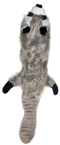 Ethical Pet Plush Skinneeez Raccoon 24-Inch Dog Toy