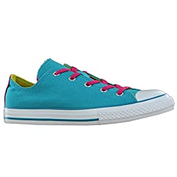 New Converse Girl\'s Chuck Taylor Double Tongue Ox Sneakers Mediterranean 3