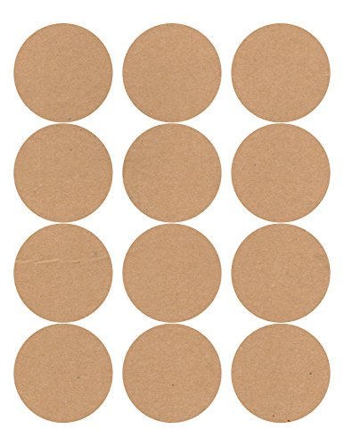 60 Circle Wide Mouth Canning Jar and Candle Labels, 2.5 inches round, Brown Kraft (Personalized Canning Labels compare prices)