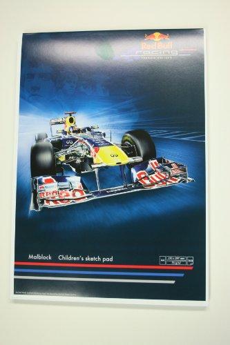 Malblock DinA4 aus der RedBull Vettel-Serie (Motiv: Fahrzeug)