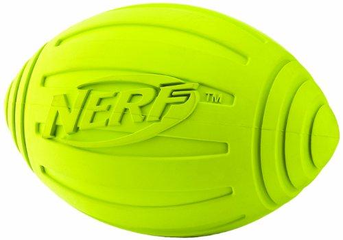 Good Nerf Dog Ridged Squeaker Football, Green
