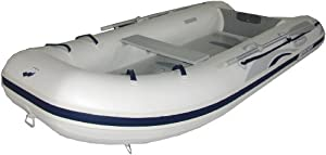 Mercury 340 Air Deck PVC Inflatable Boat, White, 11-Feet 2-Inch (2010 Model)