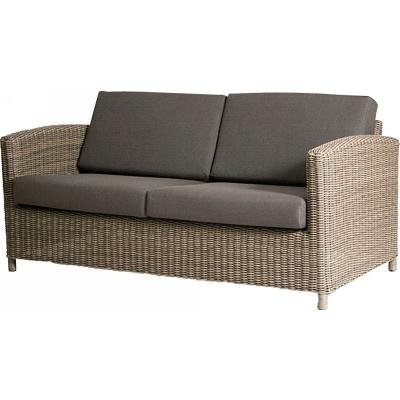 4 Seasons Outdoor 2.5-Sitzer Lounge-Sofa Polyrattan pure