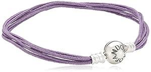 Pandora Damen Armband 925 Sterling Silber Stoff 21.0 cm 590715CLA-M3