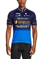 MOA Maillot Ciclismo Unieuro (Azul Oscuro / Azul Royal)