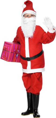 [Christmas Child Fancy Dress party Santa Boys Costume Outfit 6-8 Years] (Used Fancy Dress Costumes Ebay)