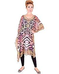 Bayside Clothing Women's Georgette Kaftan (AS07_Multicolor_L)
