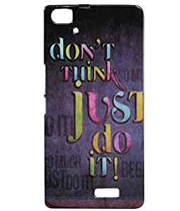 JKOBI(TM) Exclusive Rubberised Back Case Cover For LAVA IRIS ICON-Desirable Words