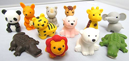 Iwako Erasers - Animal Collection (12pcs) - Type A