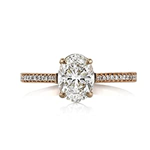Mark Broumand 1.45ct Oval Cut Diamond Engagement Ring