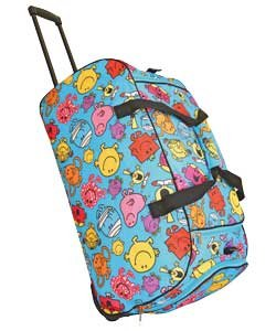 Mr Men Multi-print Wheeled Holdall Trolley Suitcase