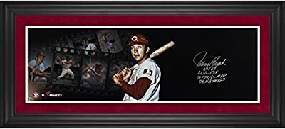 "Johnny Bench Cincinnati Reds Framed Autographed 10"" x 30"" Filmstrip Photograph with Multiple Inscription-Limited Edition of 12 - Fanatics Authentic Certified"