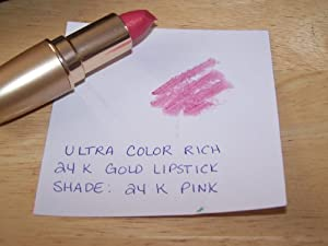 Avon Ultra Color Rich 24K Gold Lipstick in shade 24K Pink- Discontinued Shade