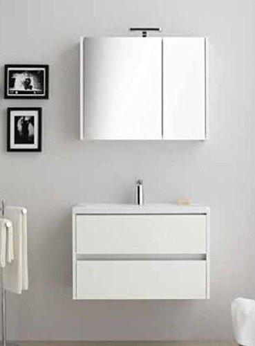 Mobile da bagno con lavabo, doppio cassetto, Base di 85cm
