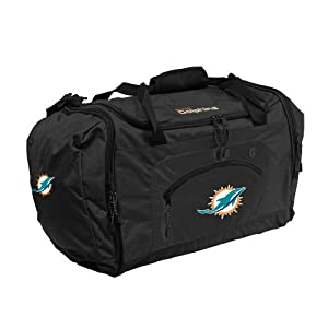 NFL Miami Dolphins Roadblock Duffel Bag, Black by Concept 1