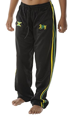 rasta4real CHILDRENS - LION OF JUDAH Rasta JAMAICA FLAG PANTS - Size 7-8Y (Jamaica Pants compare prices)