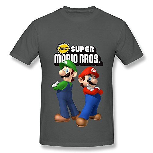 CaiTian Men's Game SUPER MARIO BROS T-Shirt