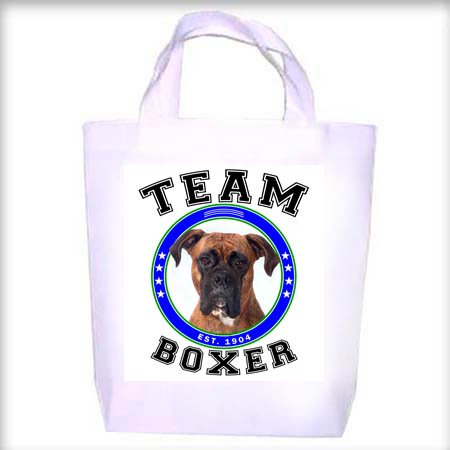 Boxer UNCROPPED TEAM Shopping - Dog Toy - Tote Bag
