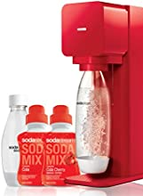 Sodastream Mega Pack Machine à Soda Play Rouge + 2 bouteilles (1L et 0.5L) + 2 concentrés 500ml Cola/Cola cherry