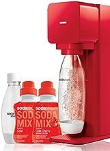 Sodastream Mega Pack Machine à Soda Play Rouge + 2 bouteilles (1L et 0.5L) + 2 concentrés 500ml Cola/Cola cherry