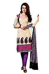 Riddhi Dresses Women's Cotton Unstitched Dress Material (Riddhi Dresses 72_Multi Coloured_Free Size)