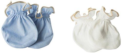 Primo Antibacterial Baby Mittens, Blue/Cream