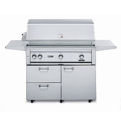 Lynx 42-Inch Freestanding All-Sear Grill With Rotisserie - Brown Gas - Frontgate