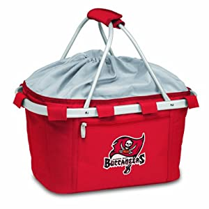 NFL Tampa Bay Buccaneers Metro Insulated Basket, Red by Picnic Time