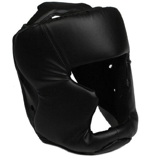Taekwondo Kickboxing Helmet Head Guard Protector Black for Adult