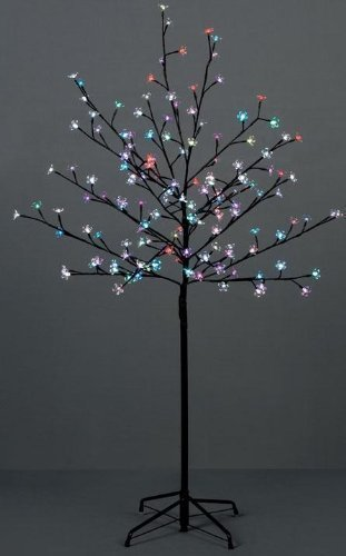 1.5M Outdoor Cherry Blossom Tree With 150 Led (Blue) By Premier Decorations
