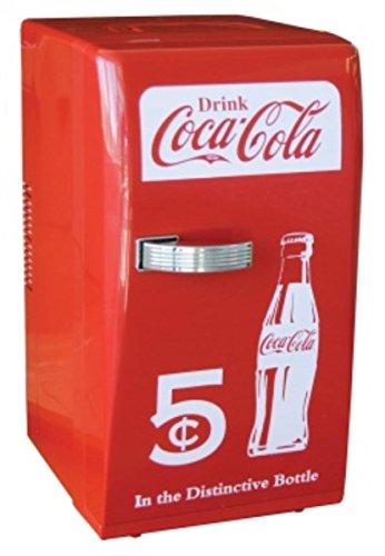 Coca Cola CCR-12 Retro Fridge, Red 0