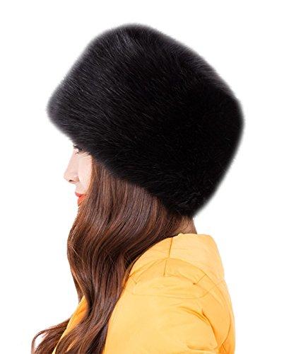 genda-2archer-donna-moda-russian-style-cappello-rotondo-faux-fur-hat-nero
