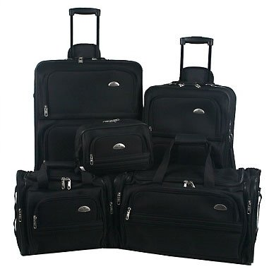 Samsonite Outpost 5 Piece Nested Luggage Set - Black