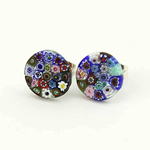 Murano Glass Millefiori Stud Earrings