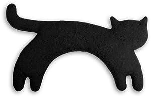 Leschi warming pillow | 36529 | Minina the cat | standing | big (Warming pillow for the neck) Colour: Midnight / Midnight