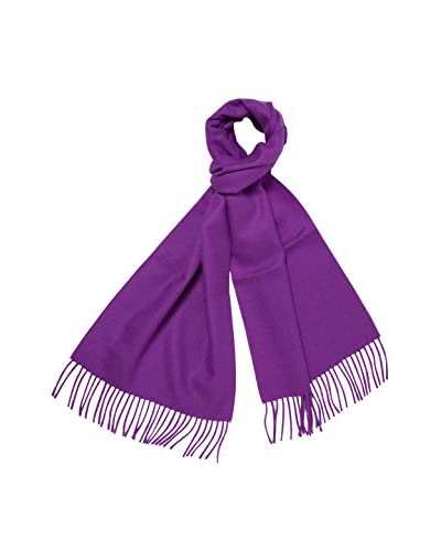 a & R Cashmere Women's Baby Alpaca Solid Scarf, Plum Violet