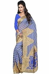 Sanju Splendid Blue Art Silk Traditional Wear Saree for Women