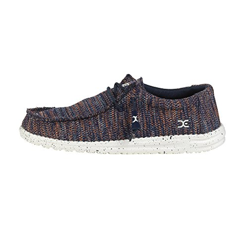 Hey Dude Scarpe rete Wally Sox - Arancione/Navy, blu (Blue), 40 EU