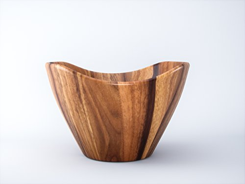Acacia Wood Large Salad Serving Bowl It can be used as a Fruit Bowl Will Make a Great Anniversary Or Wedding Registry Gift