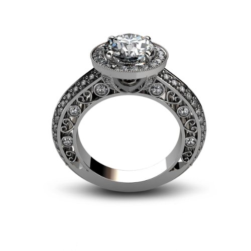 2.56 ct Round Cut Diamond Engagement Ring VS1