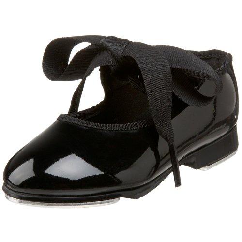 Capezio Little Kid/Big Kid Jr. Tyette 625 Tap Shoe,Black Patent,9.5 W Us Toddler front-1008896