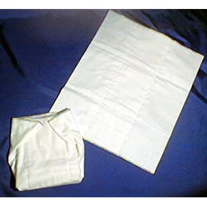Image: Kidalog Prefold Flannelette Cloth Diaper - Thick and thirsty 100% cotton diaper flannelette