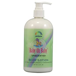 Rainbow Research Body Lotion Herbal Baby, Unscented, 16 Fluid Ounce