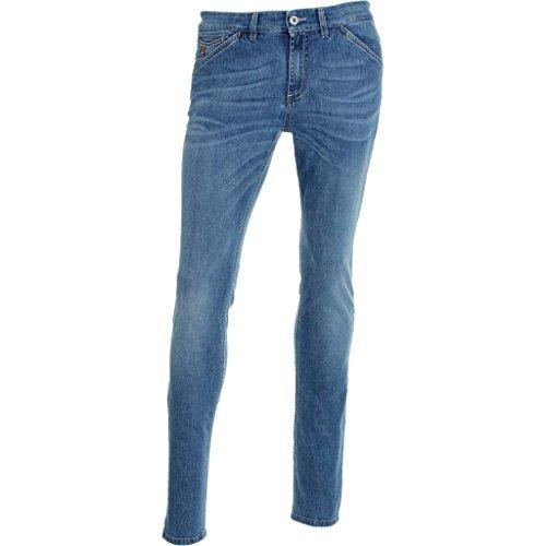 P674341U-210.DENIM-LAV.CHIARO-5 T.OBLIQUE SLIM.Jeans.33
