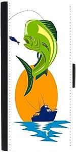 Snoogg Dorado Dolphin Fish Mahi Mahi Jumpingdesigner Protective Flip Case Cov...