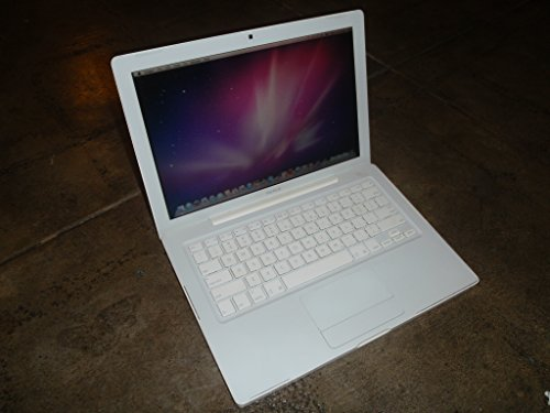 Apple MacBook 13 White Intel Core 2 Duo T7200, 2.0 GHZ, 1GB, 160 Gb Hard Drive, DVD Burner, Wi-fi, Camera, Mac Os 10.6 Snow Leopard and Ilife