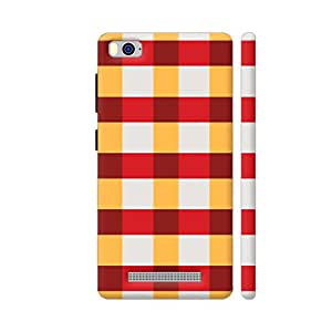 Colorpur Red And Yellow Small Square Tiles Pattern Artwork On Xiaomi Mi 4i Cover (Designer Mobile Back Case) | Artist: Designer Chennai