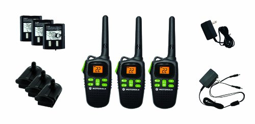 Motorola MD200TPR Giant FRS Two-Way - 10 Mile Radio Triple Pack - Black